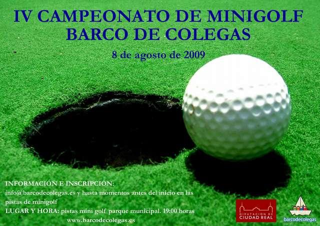 Cartel IV campeonato Minigolf BdC
