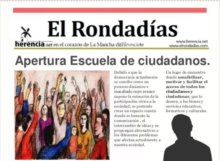 Presentación Escuela Ciudadanos en Herencia
